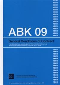 ABK 09. General conditions of contract for consultning agreements for architetural and engineering assignments for the year 2009