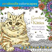 Zendoodle Colorscapes: Garden Kitties: Flower-Loving Cats to Color and Display