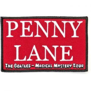 The Beatles: Standard Patch/Penny Lane Red (Song Title/Loose)
