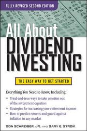 All About Dividend Investing, Second Edition