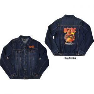 AC/DC: Unisex Denim Jacket/About To Rock (Back Print) (Small)